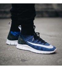 best service 4c646 57ece Nike Homme Free Flyknit Mercurial Bleu Noir