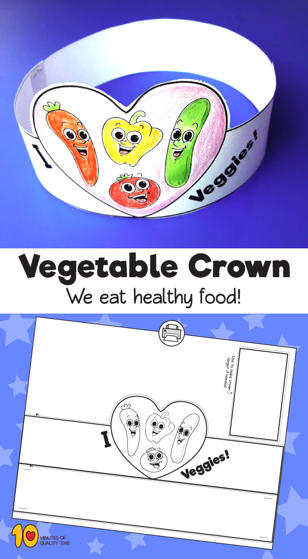 Vegetable Paper Crown