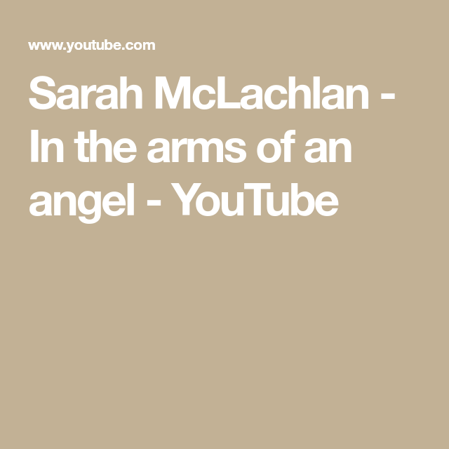 Sarah Mclachlan In The Arms Of An Angel Youtube Ukulele