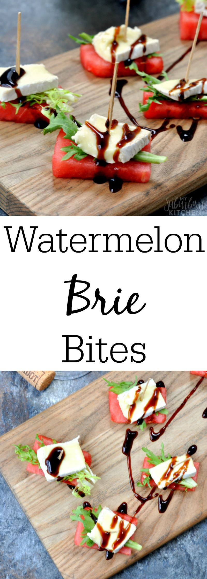 Watermelon Brie Bites for the Perfect Summer Party Appetizer. Use Joan of Arc® Brie for Flavorful Results!