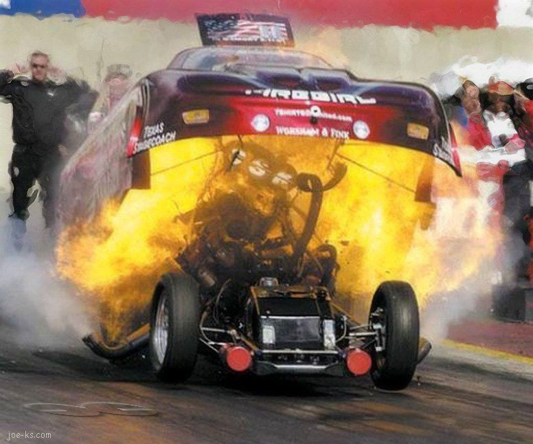 Well I Guess We Know Why They Call It A Fire Bird Drag Racing Cars Funny Car Drag Racing Car Humor
