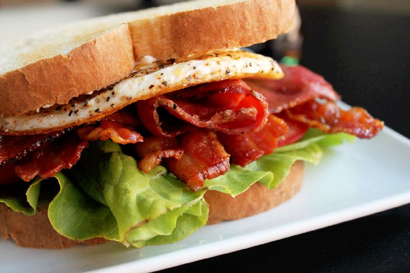 Pastrami Bacon BLT with Fried Egg and The Easy Greasy Giveaway