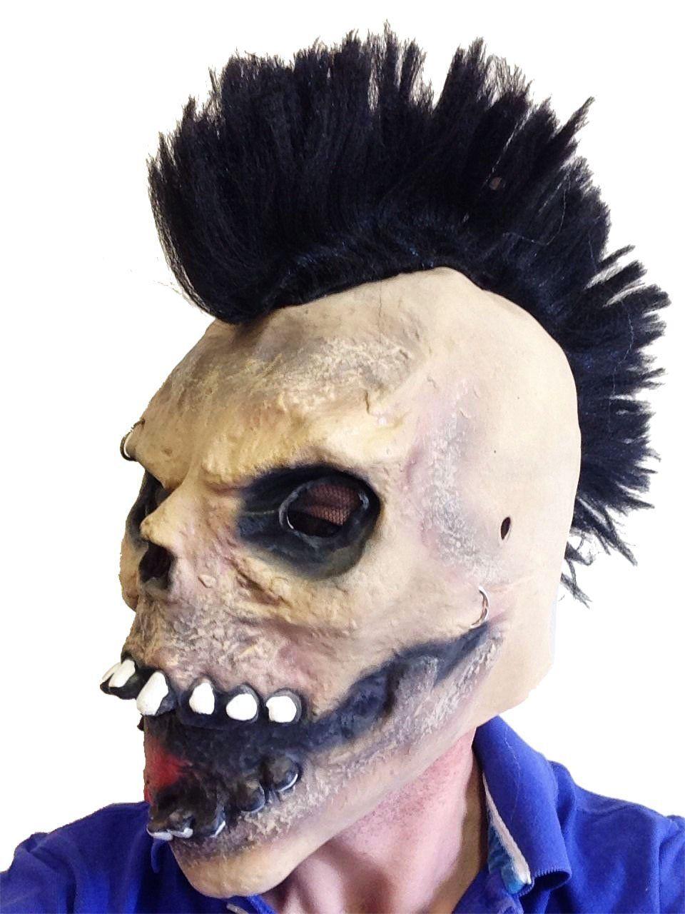 Mohawk Skull Latex Mask Slipknot Fancy Dress Party Halloween ...