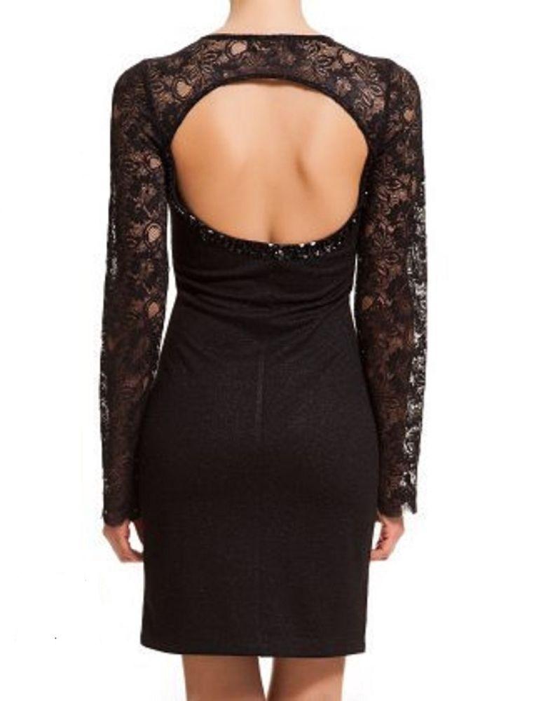 Black evening dress/lace cocktail mini dress/Designer sexy backless ...