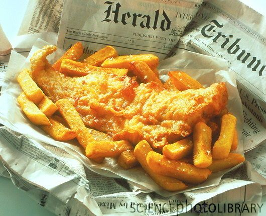 Good ole fish n chips and in newspaper icons of for Fish and chips newspaper