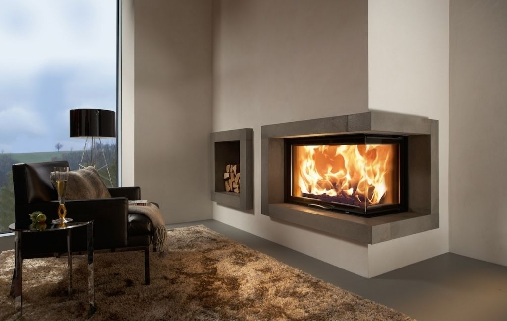 Eckkamin Modern. Amazing Woodburning Fireplace Closed ...