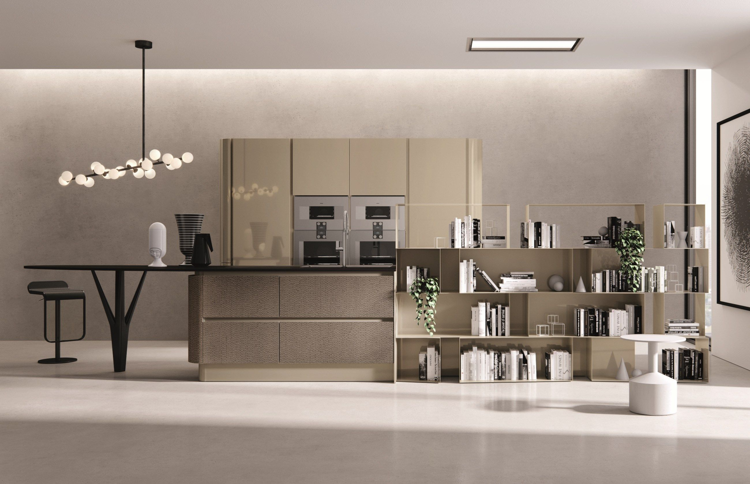 DOMINA Kitchen with island by Aster Cucine design Lorenzo Granocchia ...