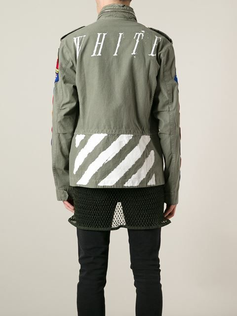 2c6d35b7 Off-white Customised Military Jacket - Just One Eye - Farfetch.com ...