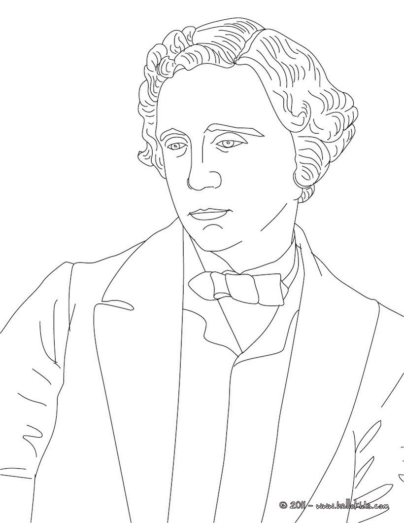 LEWIS CAROLL coloring page | History coloring sheets | Pinterest