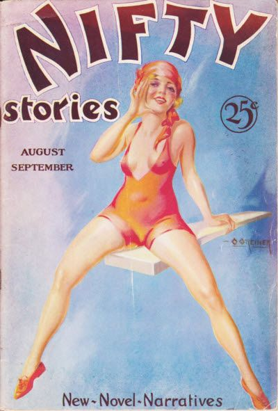 Aug  Nifty Stories Vintage Magazine Cover
