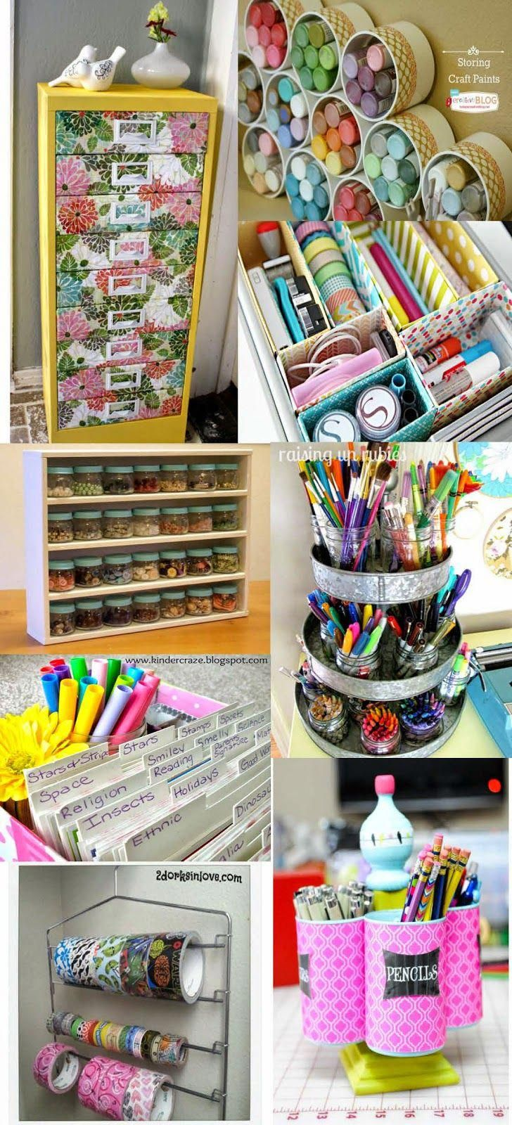 Photo of Home Crafts by Ali: 15 DIY Craft Supply Organization Ideas #CraftSuppliesOrganiz…