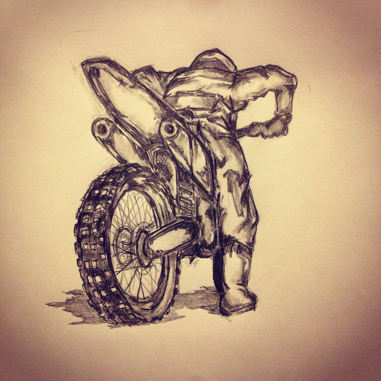 Motorcross tattoo sketch by - Ranz | Pinterest | Sketches, Tattoo ...