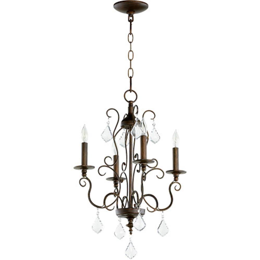 Quorum 6205 4 39 4 Light Ariel Vintage Copper Mini Chandelier Chandelier Candle Style Chandelier Led Shop Lights