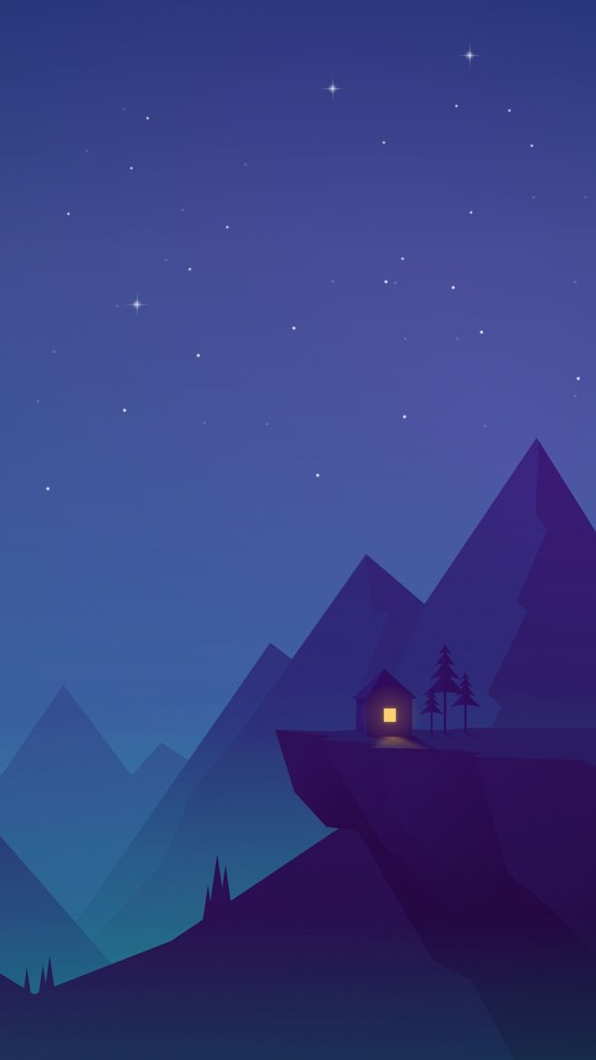 House On Mountains Animated Iphone Wallpaper In 2019