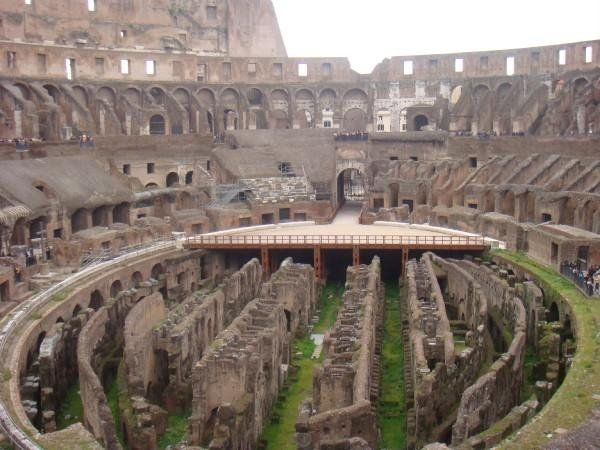 Inside The Colosseum In Rome, Italy.