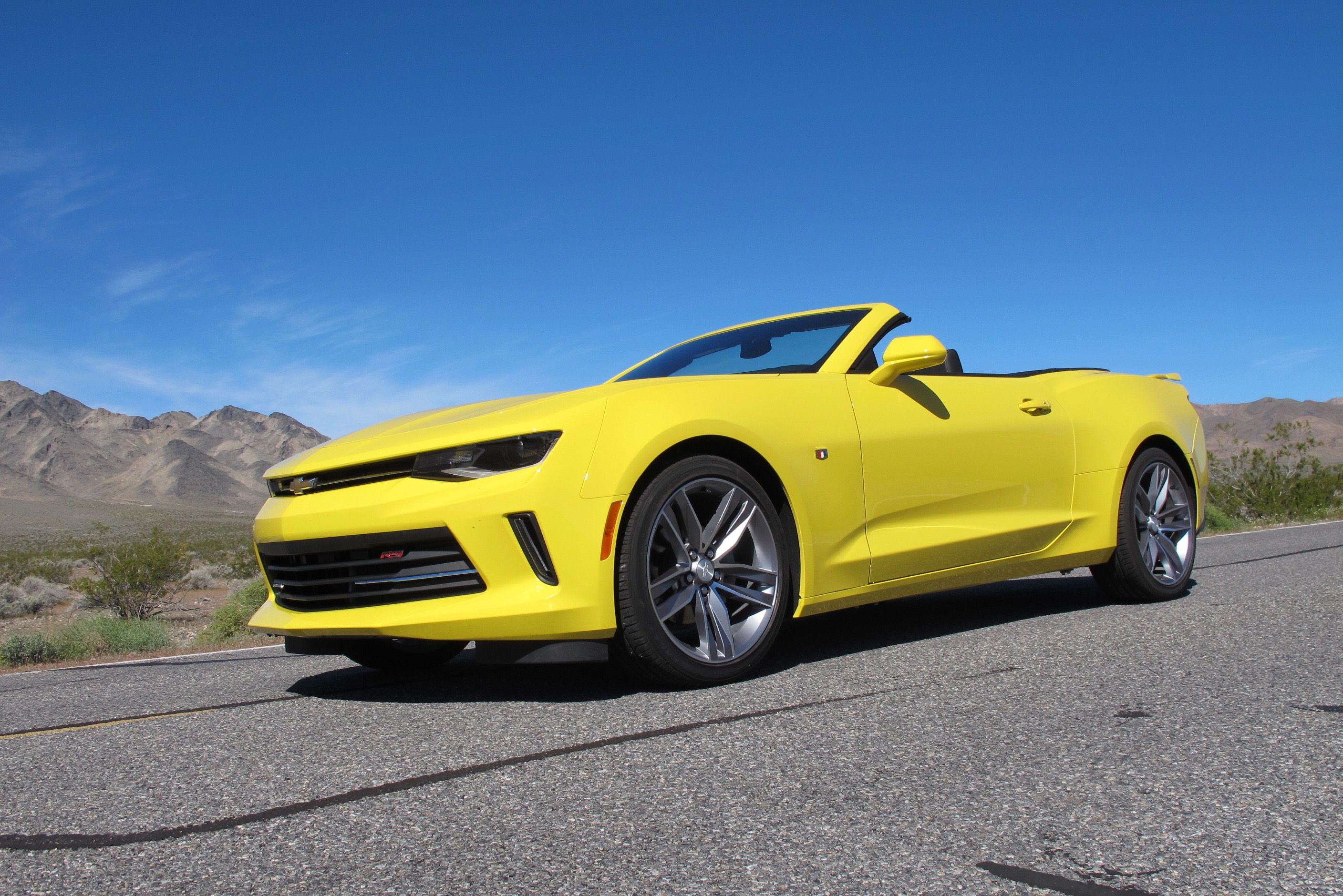 2016 Camaro convertible and 4 cylinder