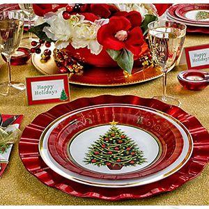 Vajilla navide a vajilla pinterest christmas christmas tablescapes y christmas decorations - Vajillas navidenas ...