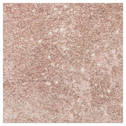Girly blush coral faux rose gold glitter marble fabric