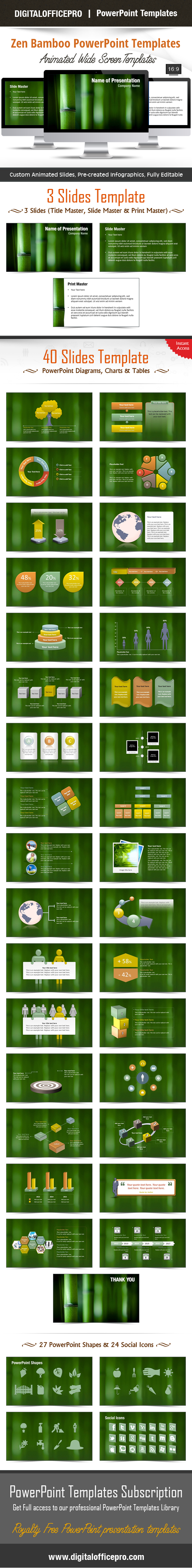 Zen bamboo powerpoint template backgrounds toneelgroepblik Gallery