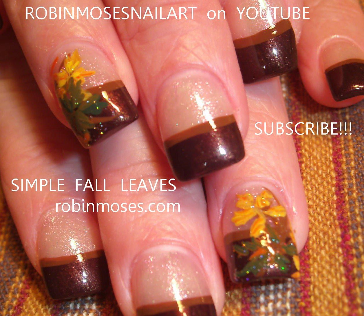 autumn nails | ... on a BASIC french manicure: robin moses nail art ...