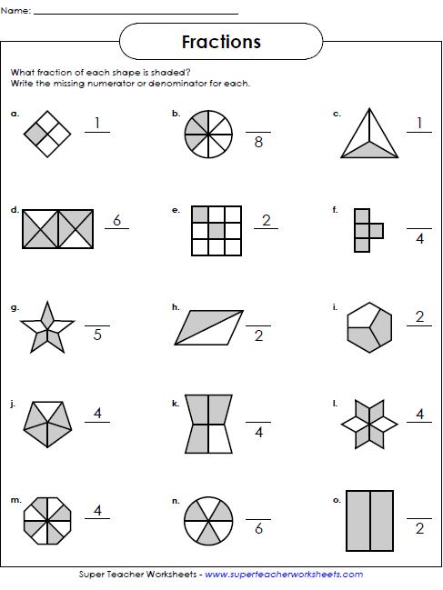 Fractions Worksheets | MATH - worksheets | Pinterest ...