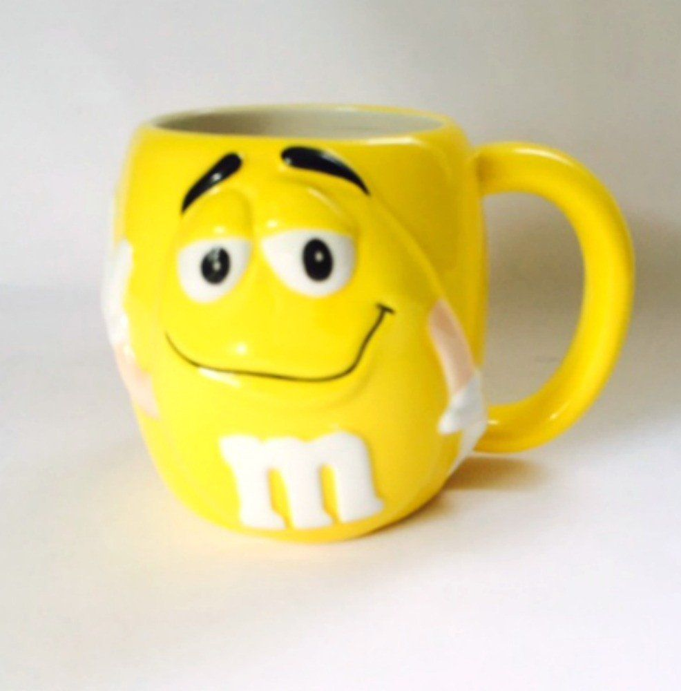 Smiley Face Coffee Mug Yellow Mm Mug Mars 3d Face Coffee Cup Coffee Cup Monitor And 3d