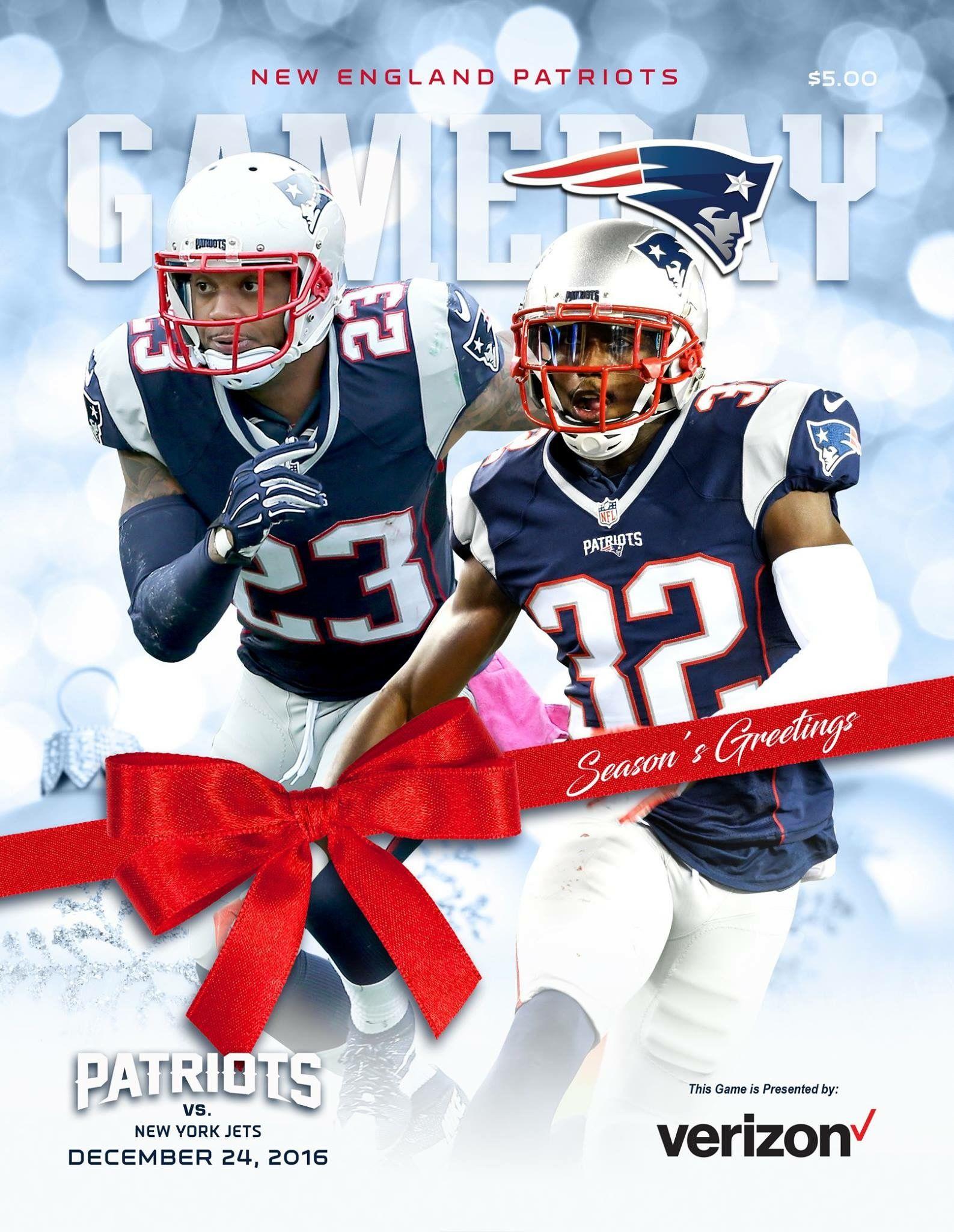 Gameday Cover Week16 Nyjvsne Seasonsgreetings New England Patriots Patriots New York Jets