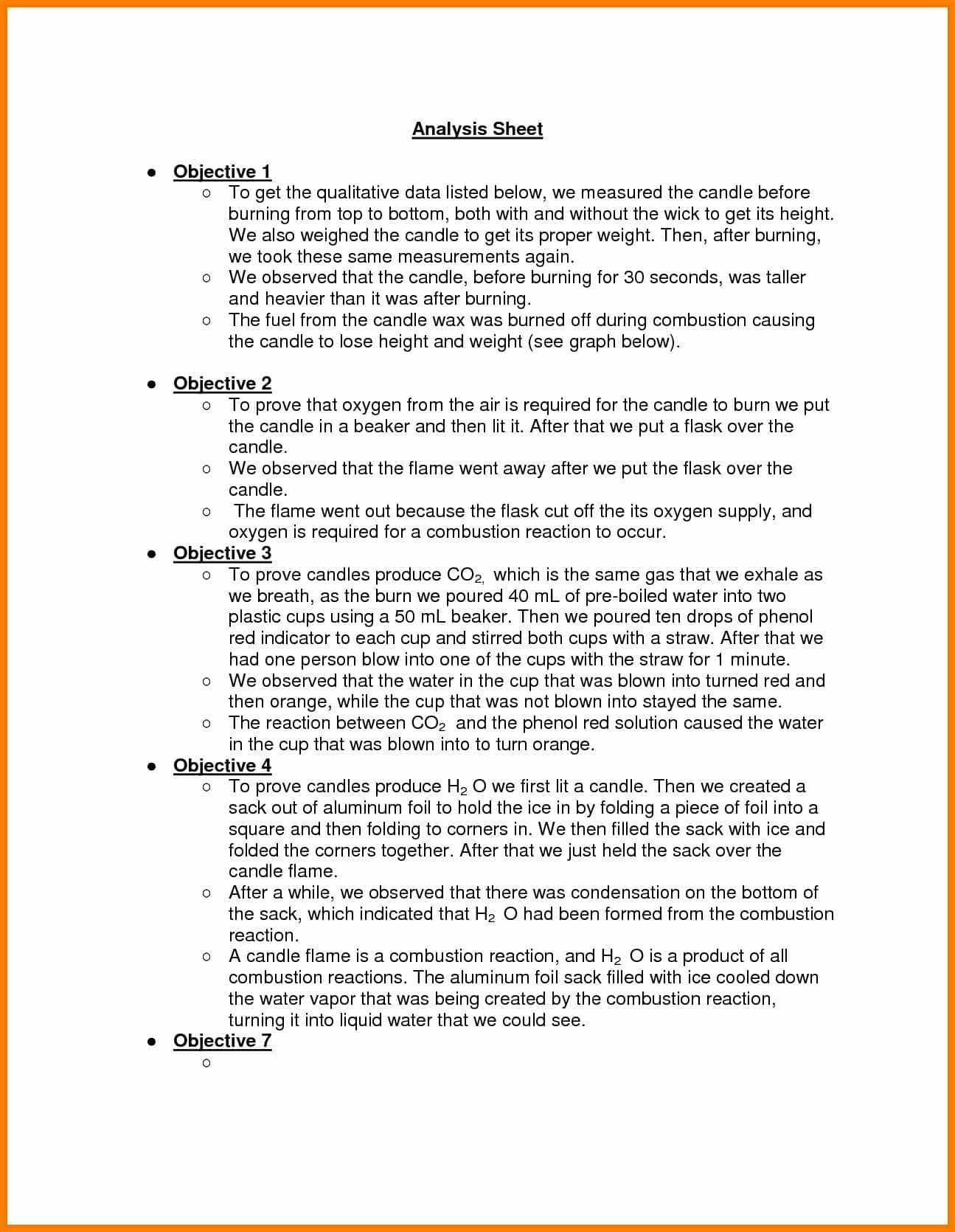 12 Example Of A Lab Report For Chemistry In With