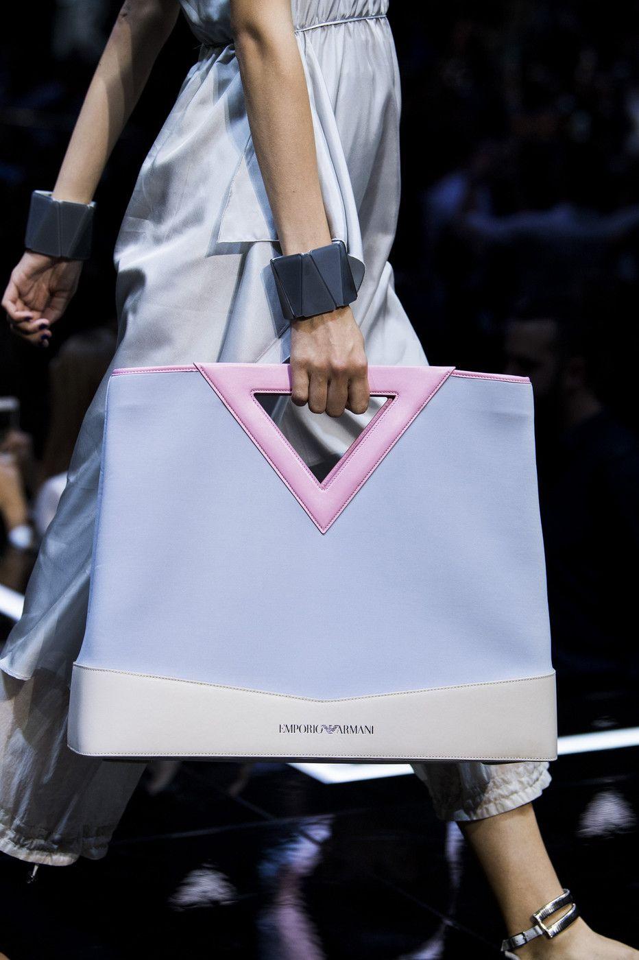 9ec05d33a62e Emporio Armani at Milan Fashion Week Spring 2019 - Details Runway Photos  Fashion Bags