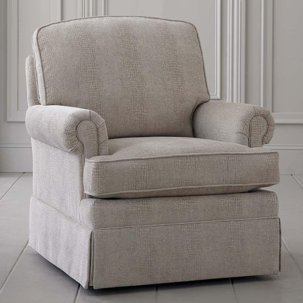 Upholstered Swivel Rocking Chair Custom Home fice Furniture