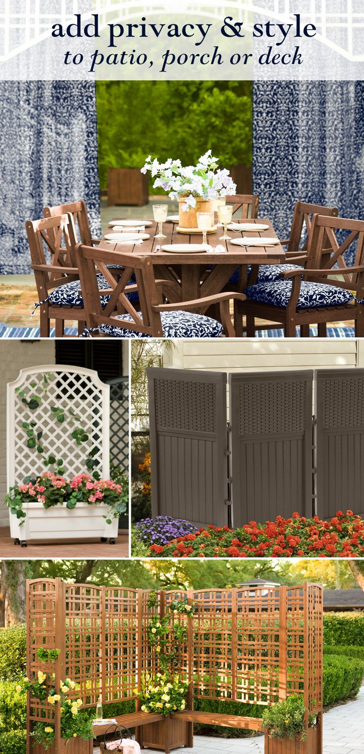 Easy Solutions For Backyard Privacy   Sheers, Folding Panels And Trellis  Screens   Patio Privacy