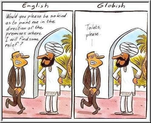 English Vs Globish For Some Occasions Simple Is Best Cartoon