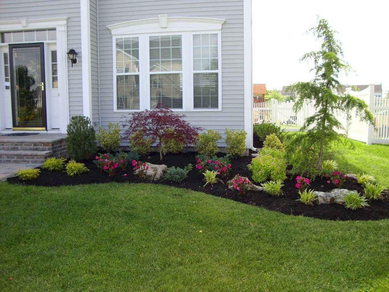 80 Fresh and Beautiful Front Yard Flowers Garden Landscaping Ideas