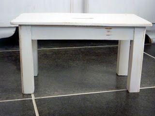 anleitung m bel wei streichen shabby chic tisch kombinieren mit alt dunkel holz und weiss. Black Bedroom Furniture Sets. Home Design Ideas