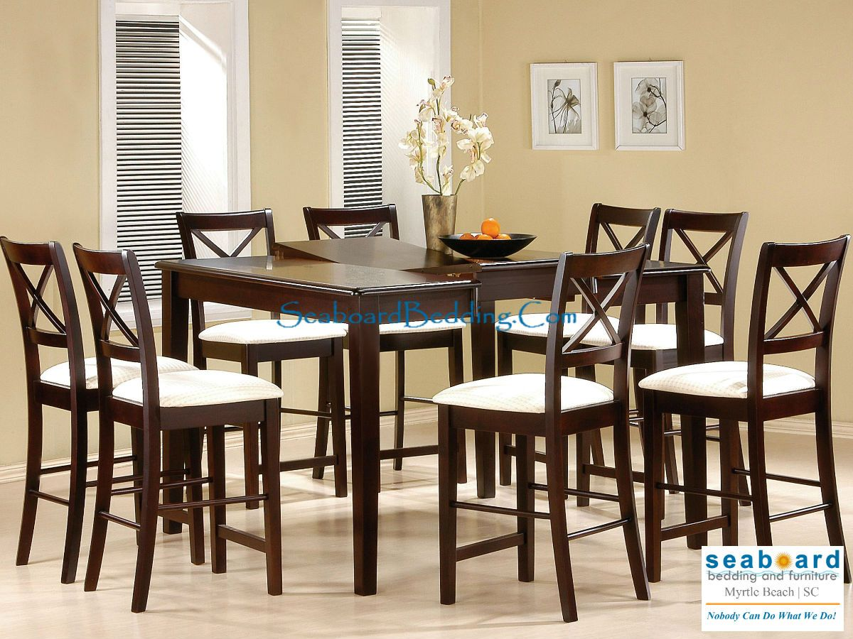 Kent Butterfly Leaf Cappuccino 5 pc Pub Table set Kent Cappuccino