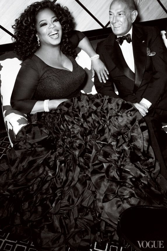 Oprah Winfrey and Oscar de la Renta | Photographed by Mario Testino, Vogue, July 2010