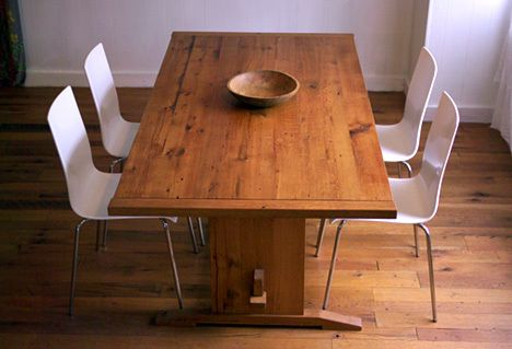 Elegant reclaimed handcrafted furniture from Many Moons Design Some of the wood es from the Jim Lovely - Cool refurbished wood table Style