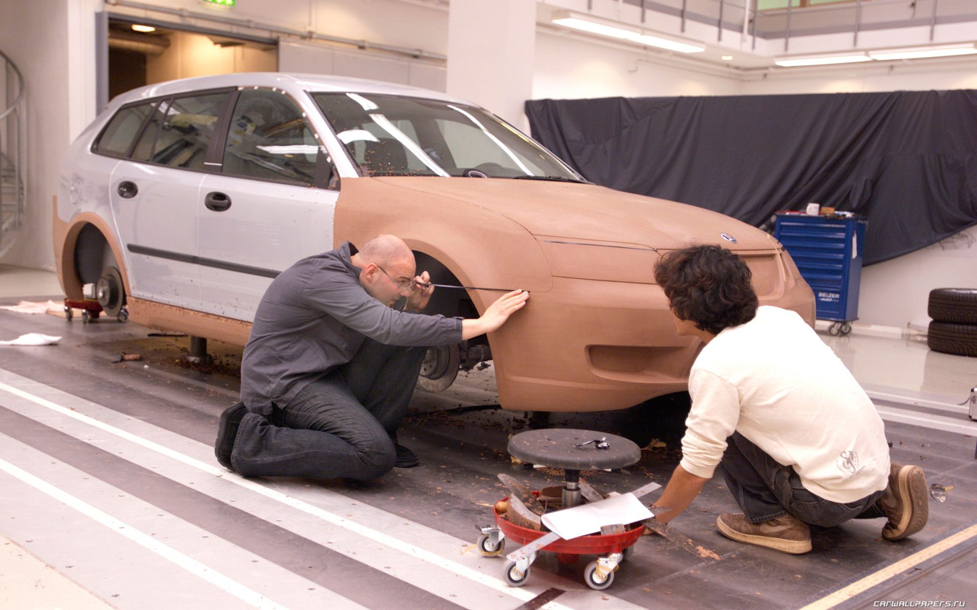 2003 Concept Car Saab 9 3 Sport Hatch Modelling