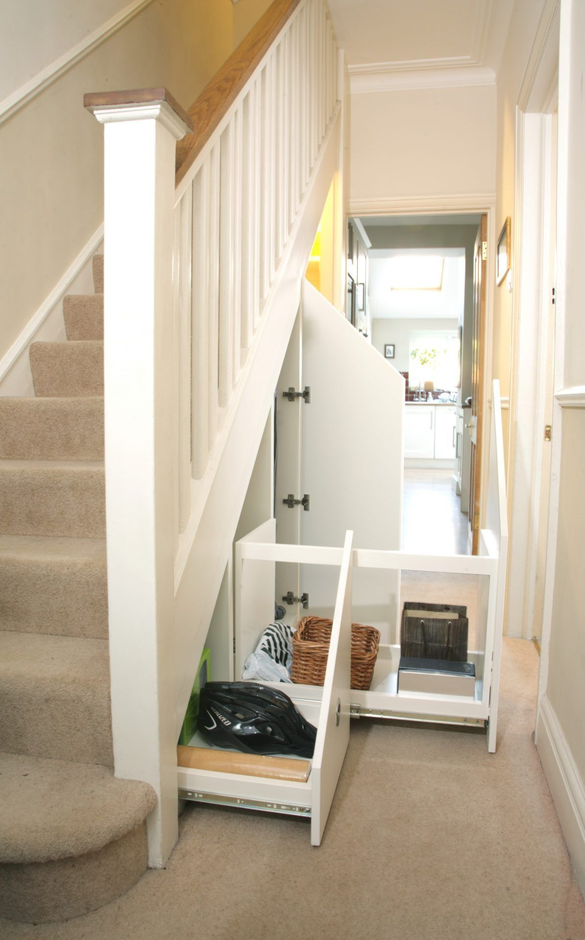 A range of uses for the under stairs area The customer needed a