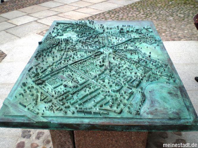 Modell des Stadtzentrums von Neustrelitz