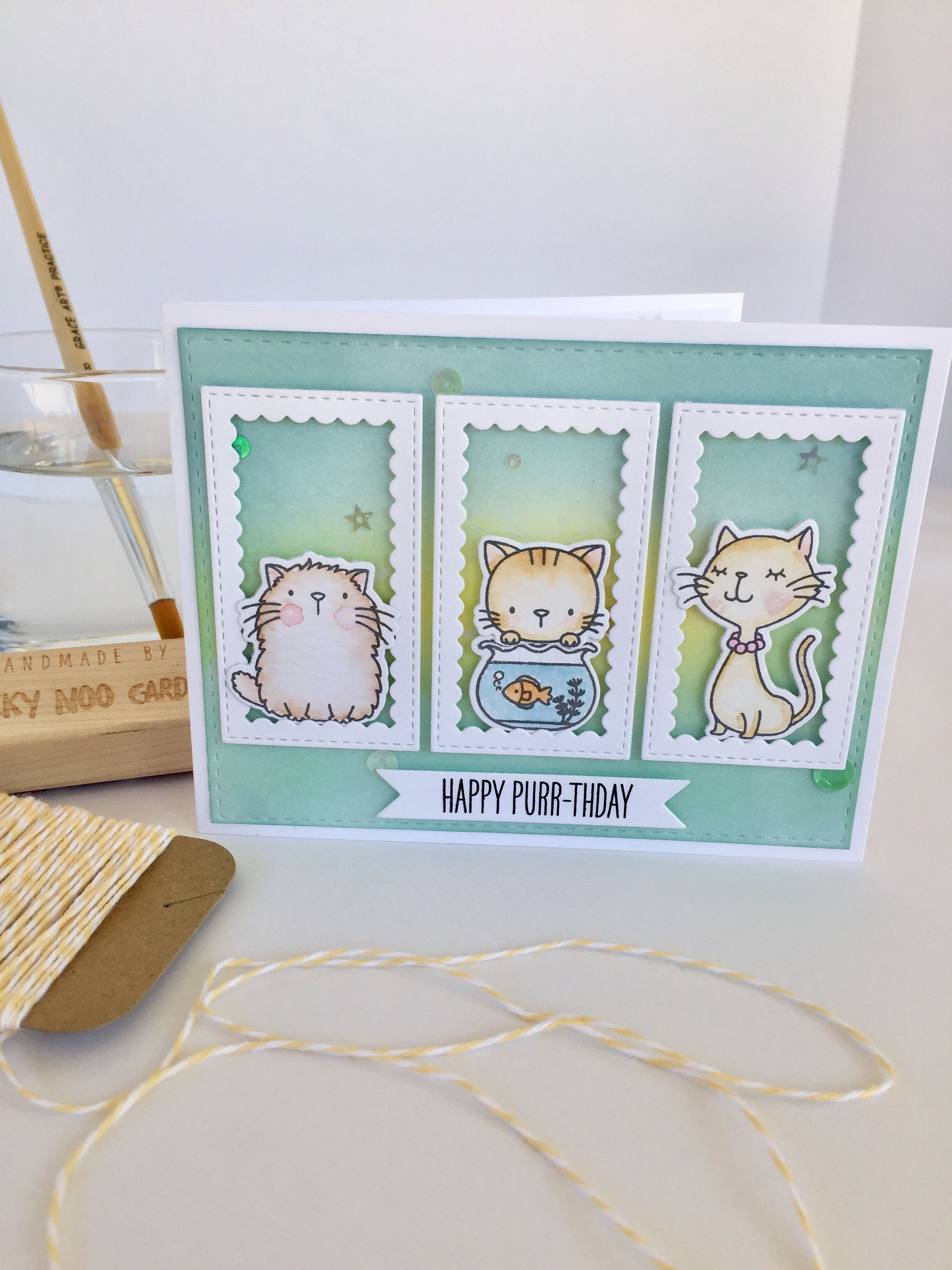 Cool Cat Mft Card By Nicky Noo Cards Nickynoocards And Https