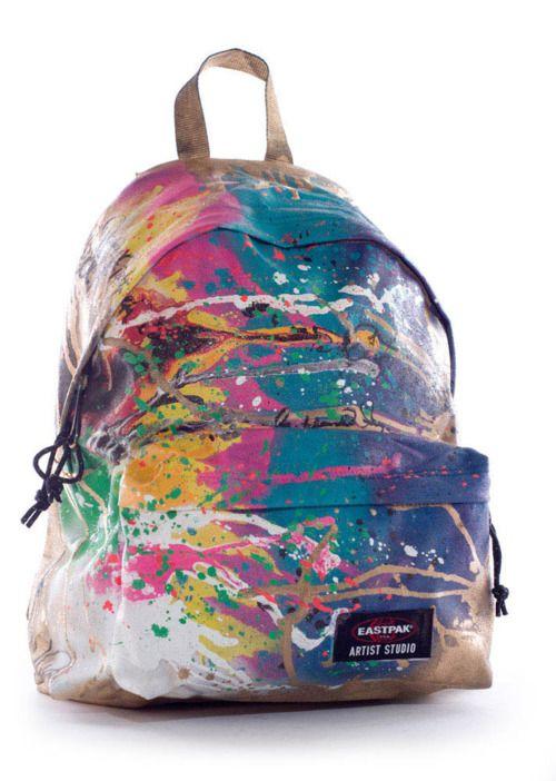 81d1ae6ebe get plain white backpack and paint splatter! | DIY & Crafts | Diy ...