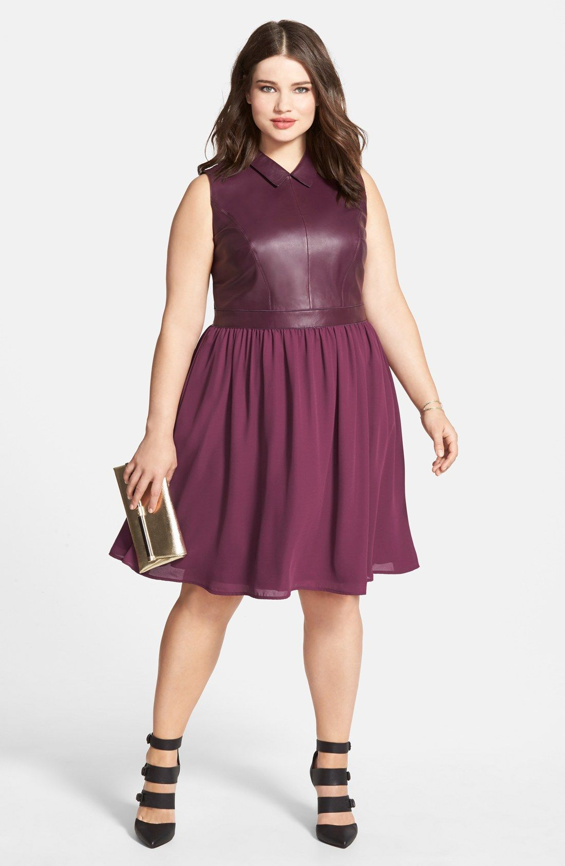 Sejour Fit & Flare Dress & Accessories Plus Size I ve never really