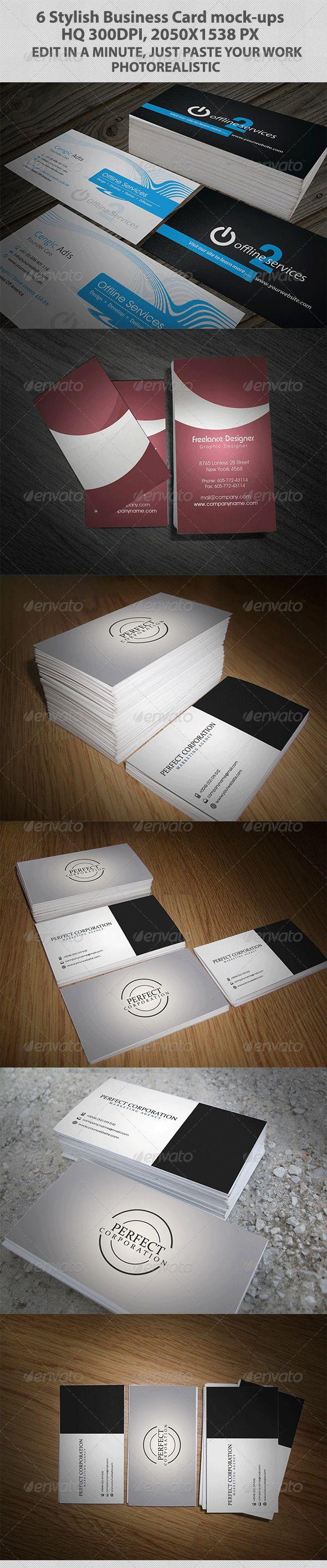 Six Stylish Business Card Mock Ups Mockup Business Cards And Stylish
