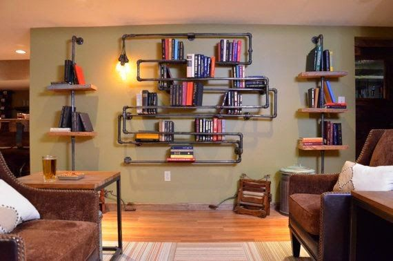 wandregal selber bauen 2 Industrial Furniture