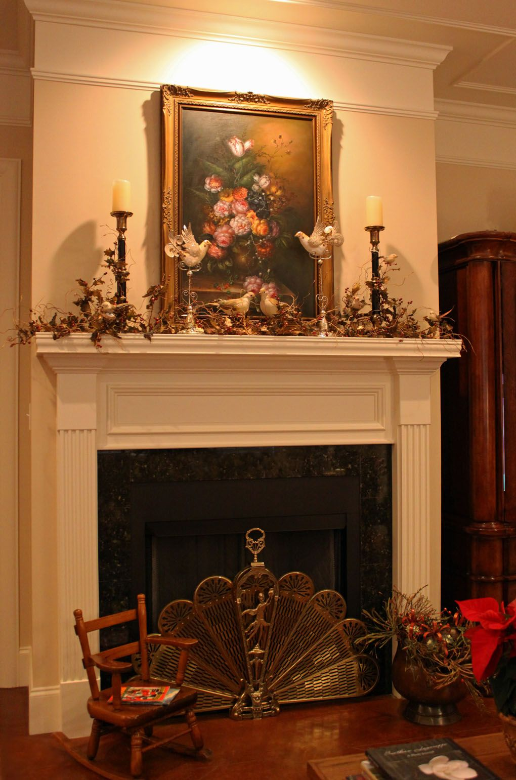 Fireplace mantel decorating ideas Click to