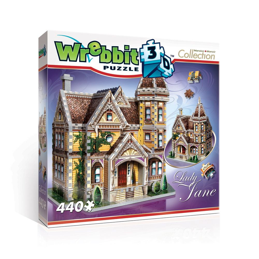 Lady Jane 3D puzzle (440 pcs) from Wrebbit 3D. Mansion Collection.