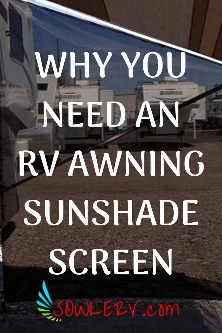 RV Awning Sunshade Screen Awning, Screen block, Camping