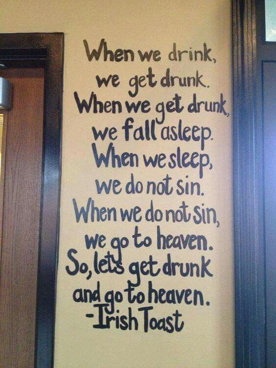 This Would Be Awesome To Paint On A Wall Irish Sayings Funny