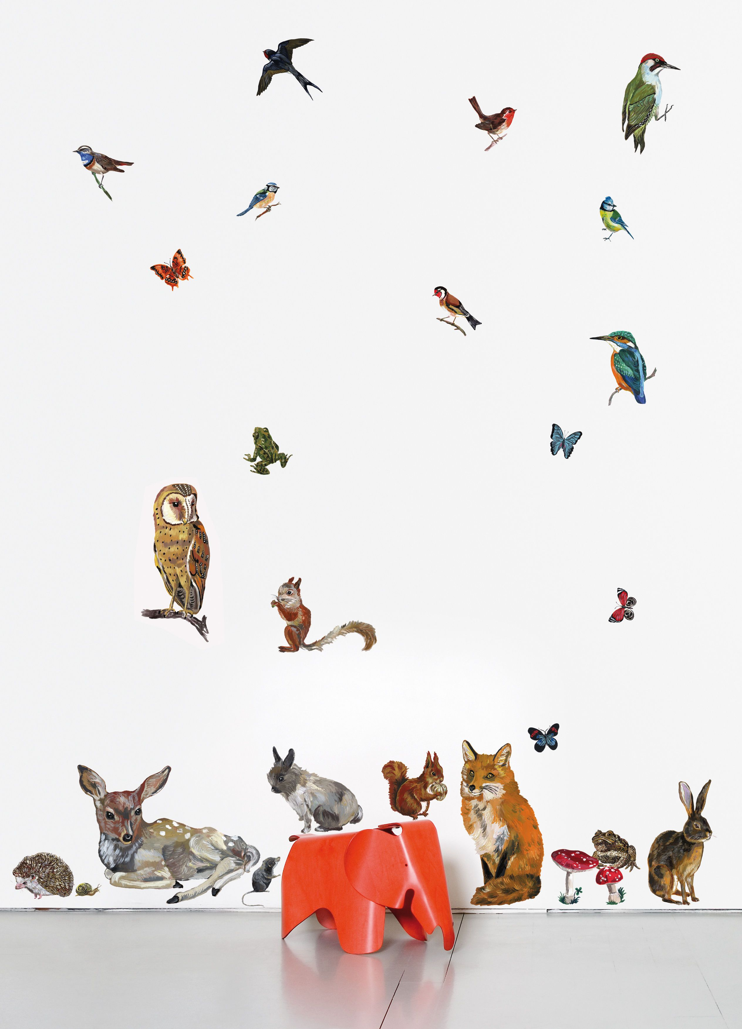 Sticker Les Animaux 2 By Domestic Multicoloured Made In Design Uk Wall Stickers Animals Wall Stickers Vinyl Wall Stickers